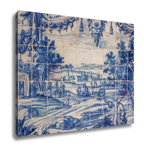 Gallery Wrapped Canvas, Traditional Tiles Azulejos Lisbon Portugal