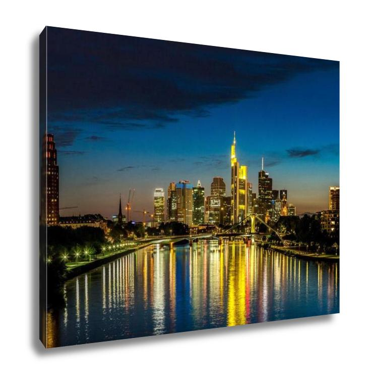 Gallery Wrapped Canvas, Frankfurt Am Main During Sunset