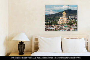 Gallery Wrapped Canvas, View Of Sameba Or Holy Trinity Cathedral Of Tbilisi The Main Georgian Orthodox