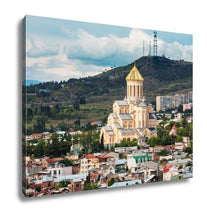Load image into Gallery viewer, Gallery Wrapped Canvas, View Of Sameba Or Holy Trinity Cathedral Of Tbilisi The Main Georgian Orthodox