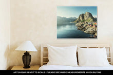 Load image into Gallery viewer, Gallery Wrapped Canvas, Fishing Hut In The Hamnoy Reine Lofoten Islands Norway