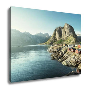 Gallery Wrapped Canvas, Fishing Hut In The Hamnoy Reine Lofoten Islands Norway