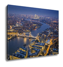 Load image into Gallery viewer, Gallery Wrapped Canvas, London England Aerial Skyline View Of London With The Iconic Tower Bridge The