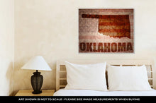 Load image into Gallery viewer, Gallery Wrapped Canvas, Vintage Oklahoma Map