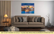 Load image into Gallery viewer, Gallery Wrapped Canvas, Savannah Georgia USA Skyline On The Savannah River At Dusk
