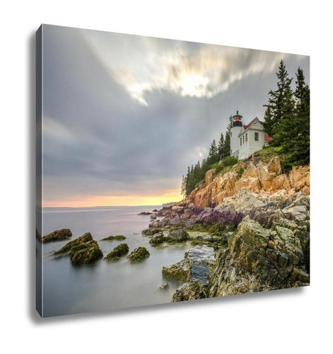 Gallery Wrapped Canvas, Bass Harbor Head Light Acadia National Park Maine