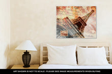 Load image into Gallery viewer, Gallery Wrapped Canvas, Eiffel Tower Paris Abstract Art