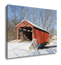 Load image into Gallery viewer, Gallery Wrapped Canvas, Covered Bridge In Winter