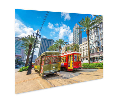 Metal Panel Print, New Orleans Streetcars