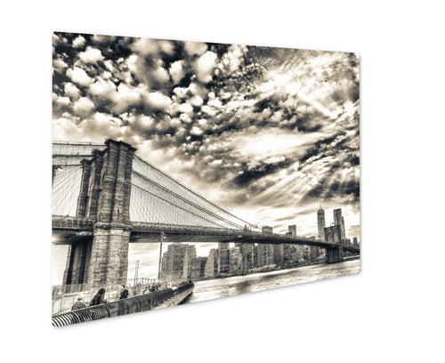 Metal Panel Print, Brooklyn Bridge In New York