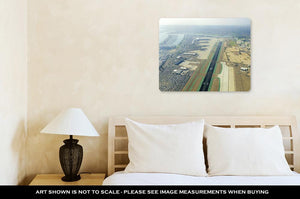 Metal Panel Print, Aerial View Of San Diego Airport