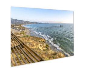 Metal Panel Print, California Coastline At The Scripps Pier