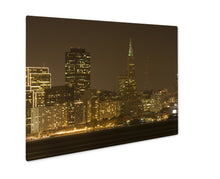 Load image into Gallery viewer, Metal Panel Print, Transamerica Building At Night