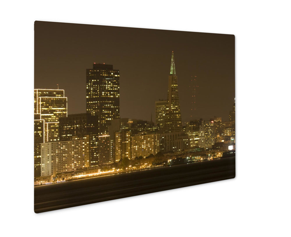 Metal Panel Print, Transamerica Building At Night