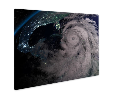 Metal Panel Print, Hurricane Matthew At Night