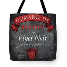 Load image into Gallery viewer, Explorations-SFI: Still Life Wine Label Square Viii Tote Bag