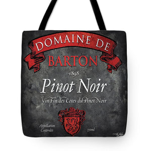 Explorations-SFI: Still Life Wine Label Square Viii Tote Bag
