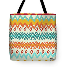 Load image into Gallery viewer, Navajo Mission Round Tote Bag