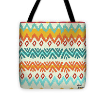 Load image into Gallery viewer, Explorations-SFI: Navajo Mission Round Tote Bag