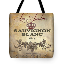 Load image into Gallery viewer, Explorations-SFI: Wine Label Vi Tote Bag