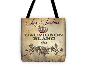 Explorations-SFI: Wine Label Vi Tote Bag