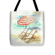 Load image into Gallery viewer, Explorations-SFI: Umbrella On The Beach I Tote Bag
