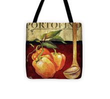 Load image into Gallery viewer, Explorations-SFI: Cuisine Iv Tote Bag - Portofino