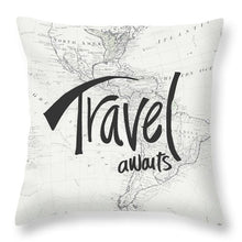 Load image into Gallery viewer, Explorations-SFI: Travel Awaits Map Throw Pillow
