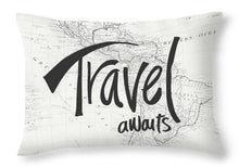 Load image into Gallery viewer, Explorations-SFI: Explorations-SFI: Travel Awaits Map Throw Pillow