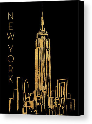 Explorations-SFI: New York On Black Canvas Print by Nicholas Biscardi