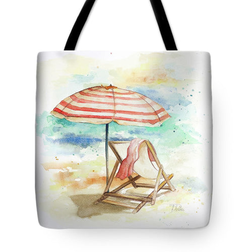 Explorations-SFI: Umbrella On The Beach II Tote Bag