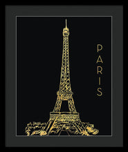 Load image into Gallery viewer, Explorations-SFI: Paris On Black Framed Print by Nicholas Biscardi