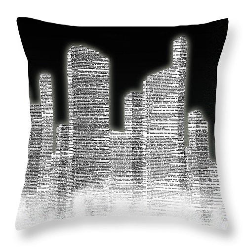 Black And White City II Throw Pillow