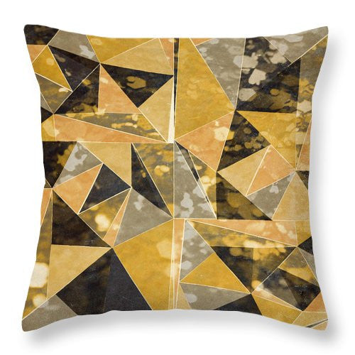 Omg Gold Triangles I Throw Pillow
