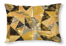 Load image into Gallery viewer, Explorations-SFI: Omg Gold Triangles I Throw Pillow