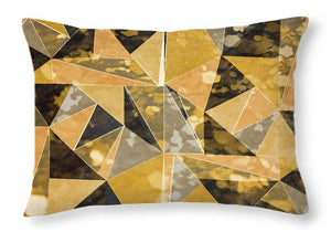 Explorations-SFI: Omg Gold Triangles I Throw Pillow