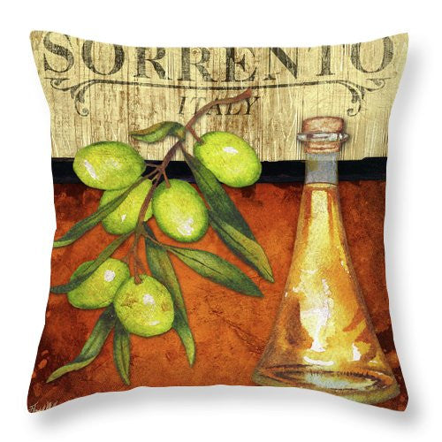 Cuisine II Throw Pillow - Sorrento