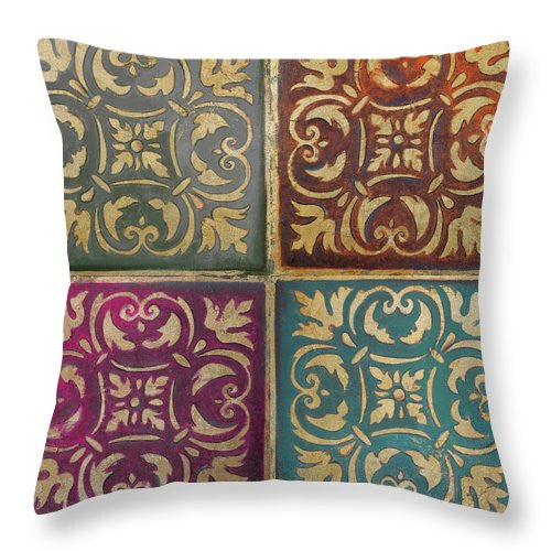 Moroccan Mosaic Patch II Throw Pillow