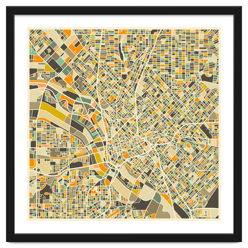 Dallas Map Framed Artwork