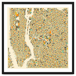 Explorations-SFI: New York Map Art Print