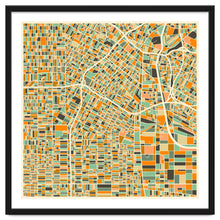 Load image into Gallery viewer, Explorations-SFI: Los Angeles Map Art Print