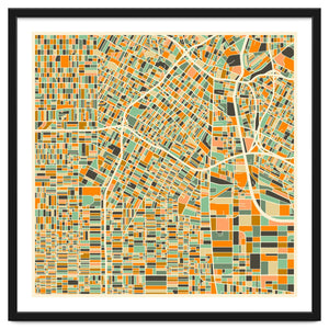 Explorations-SFI: Los Angeles Map Art Print