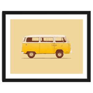 Yellow Van Art Print