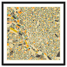Load image into Gallery viewer, Explorations-SFI: Dallas Map Art Print