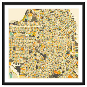Explorations-SFI: San Francisco Map Art Print