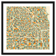 Load image into Gallery viewer, Chicago Map Art Print