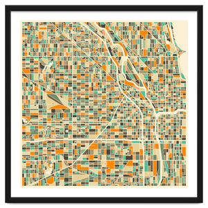 Explorations-SFI: Chicago Map Art Print