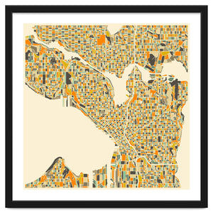 Seattle Map Art Print