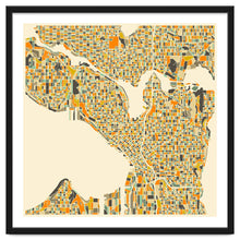 Load image into Gallery viewer, Explorations-SFI: Seattle Map Art Print