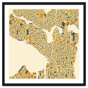 Explorations-SFI: Seattle Map Art Print